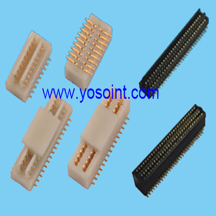 0.5mm BTB 10~100P male header of widening double groove with peg anf ground strap SMT type