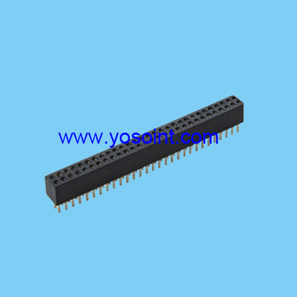 1.27mm machine pin female header H3.8 doual row straight solder